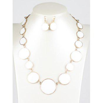 Faux Gem Round Jewelry Set