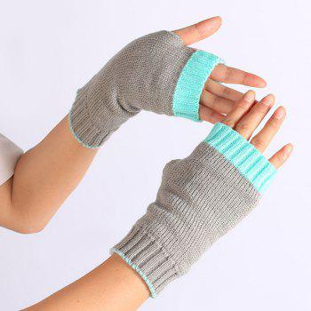 Gants Color Block Mitaines - Tiffany Bleu