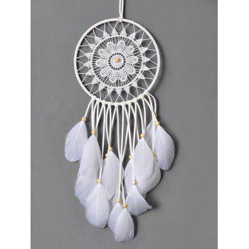Circular Net Lace Feathers Dreamcatcher Multipurpose Keyring