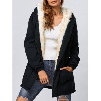 Long Black Parka Cheap Casual Style Online Free Shipping at ...