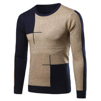 Long Sleeve Color Matching Crew Neck Sweater