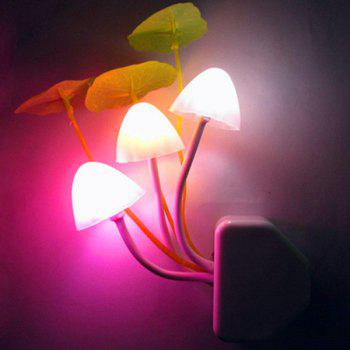 Colorful Mushroom Socket Power Supply Table LED Night Light