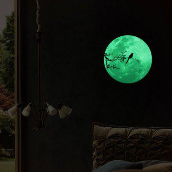 Creative Gift Moon Design Decoration Noctilucence Wall Sticker