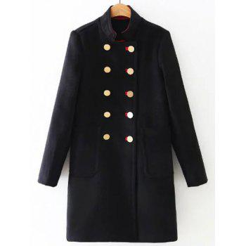 Long Double Breasted Woolen Coat
