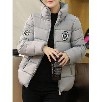 Stand Collar Short Padded Jacket