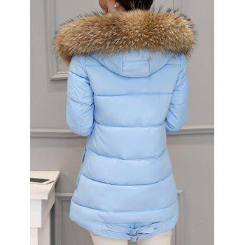 Pocket Padded Coat with Furry Hood - 2XL 2XL