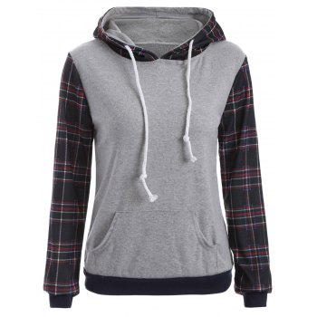 Pocket Checked Hoodie