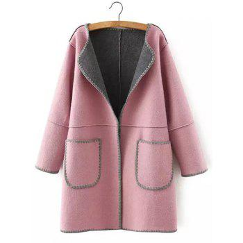 Wool Pockets Plus Size Coat