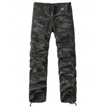 Pockets Design Straight Leg Zipper Fly Camouflage Cargo Pants