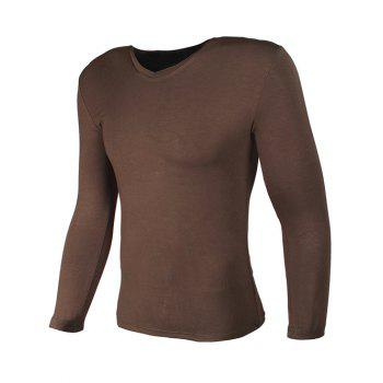 V-Neck Long Sleeve Slimming T-Shirt