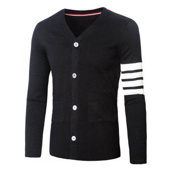 Varsity Stripe V-Neck Long Sleeve Cardigan
