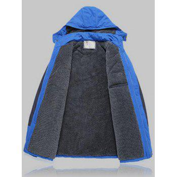 Détachables Veste Capuche Color Block Ski - Bleu 3XL