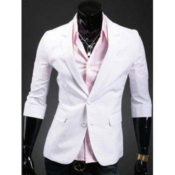 Single Breasted Notch Lapel Back Double Vent Blazer