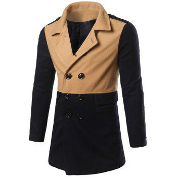 Back Vent Epaulet Design Double Breasted Coat