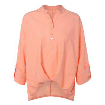 Long Sleeve High Low Chiffon Blouse