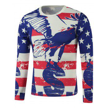 American Flag Star Printed Splatter Paint Sweatshirt