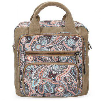 Casual Canvas Ethnic Print Backpack