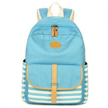 Color Splicing Metal Striped Pattern Backpack