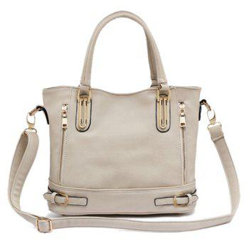 PU Leather Metal Buckle Straps Handbag