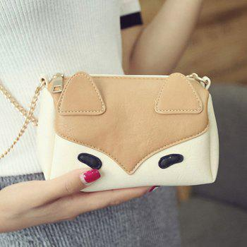 Color Block Cartoon Chains Crossbody Bag