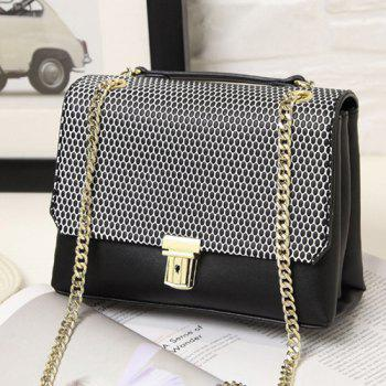 Square Shape Dots Chain Crossbody Bag