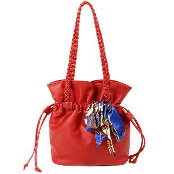 PU Leather Braid Scarves Shoulder Bag
