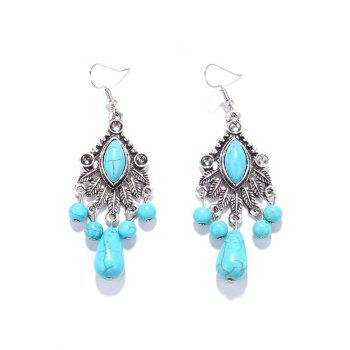 Zircon Turquoise Chandelier Earrings
