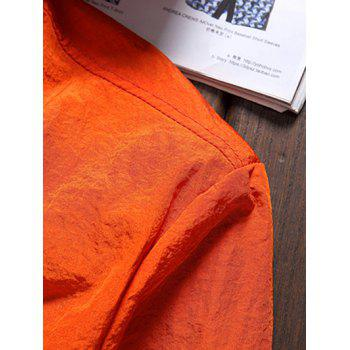 Stripe 51 Printed Zipper-Up Hooded Jacket - ORANGE 2XL