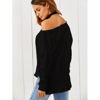 One-Shoulder Loose Sweater - S S