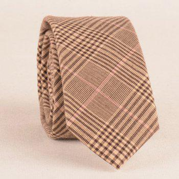 Formal Plaid Print Tie Pocket Square and Bow Tie - BEIGE