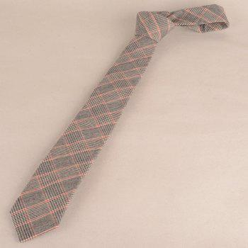 Formal Plaid Print Tie Pocket Square and Bow Tie - WATERMELON RED