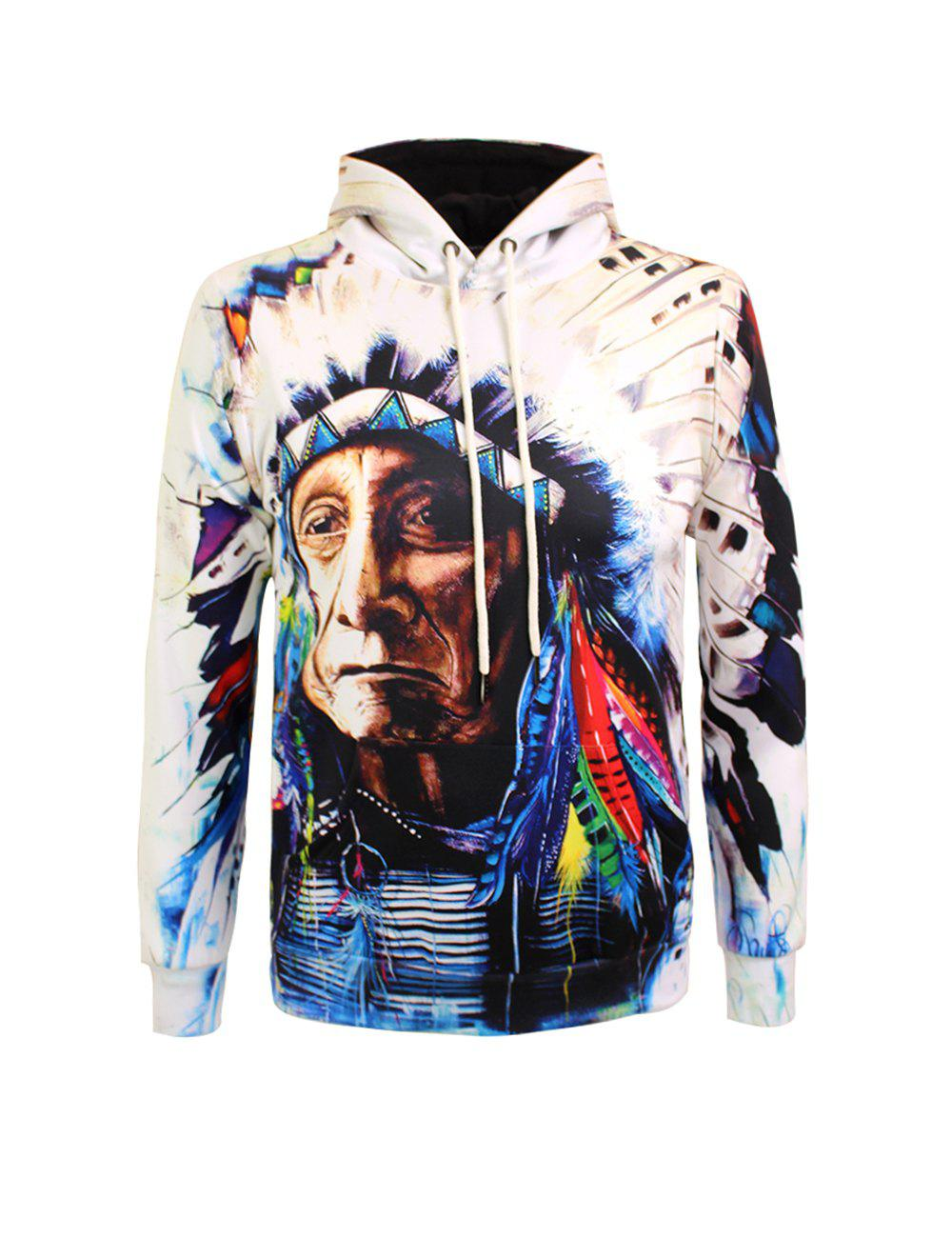 Drawstring Chief Printed Pullover Hoodie chief 450ml