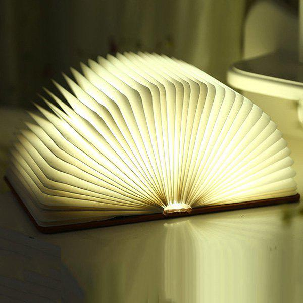 4Color Change Portable Mini Folding Book USB Bedside LED Night Light - BLUE M