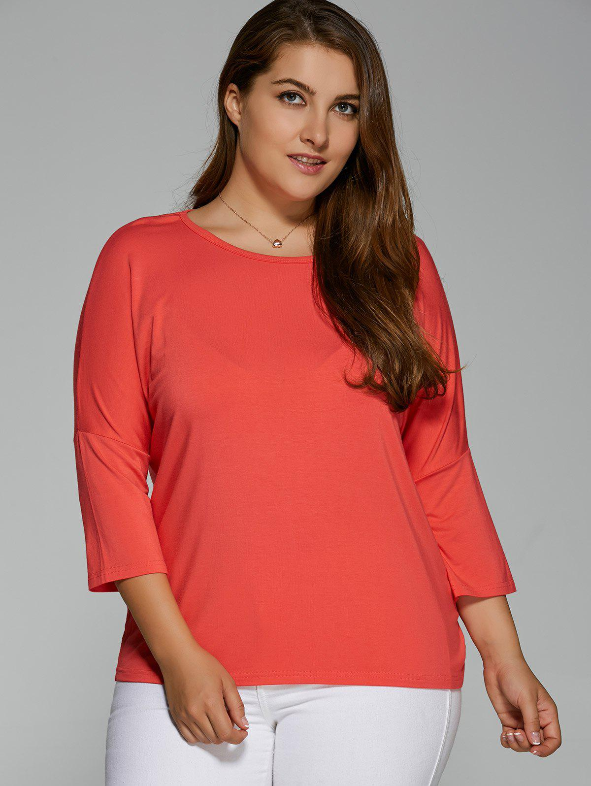 Plus Size Batwing Sleeve High Low T-Shirt sobredosis de soda buenos aires