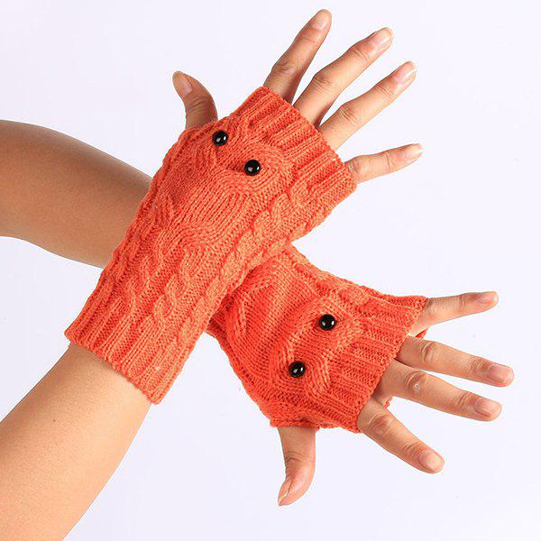 Knitted Twist Owl Fingerless Gloves - JACINTH