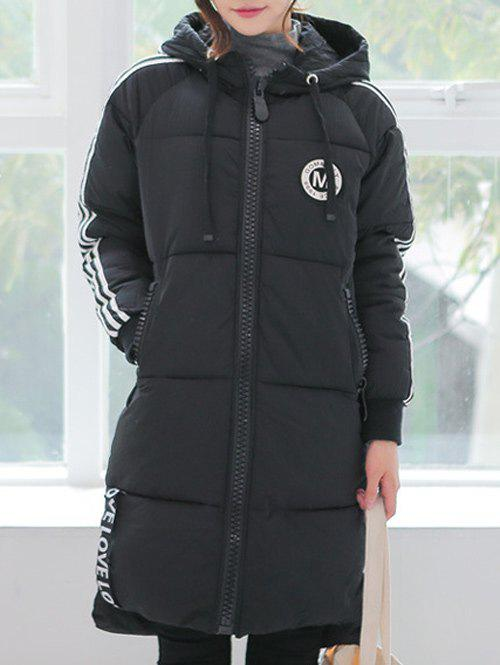 Striped Slim Long Quilted Coat одеяло для cocoonababy quilted cocoonacover quilted grey 49118