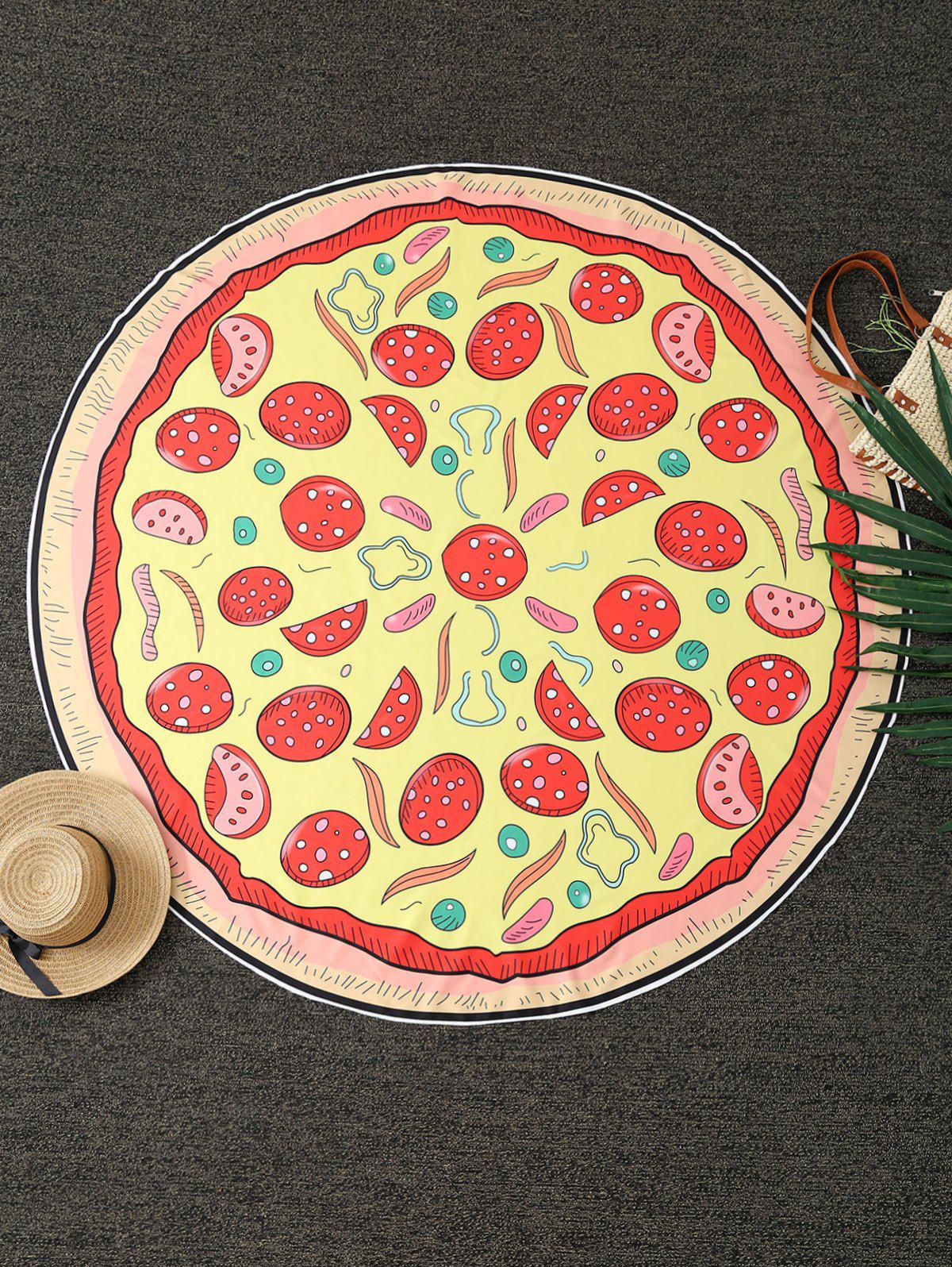 Comfy Pizza Print Round Throw BlanketHome<br><br><br>Size: ONE SIZE(FIT SIZE XS TO M)<br>Color: YELLOW