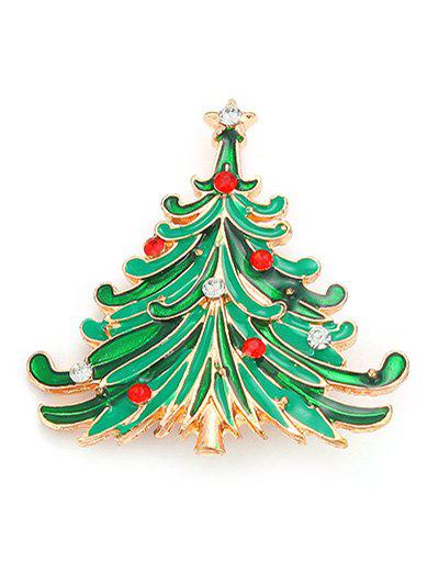 Rhinestone Pentagram Christmas Tree BroochJewelry<br><br><br>Color: GREEN