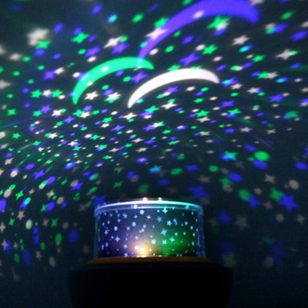 Creative USB 360° Rotating Star Sky Projection Night Light - WHITE