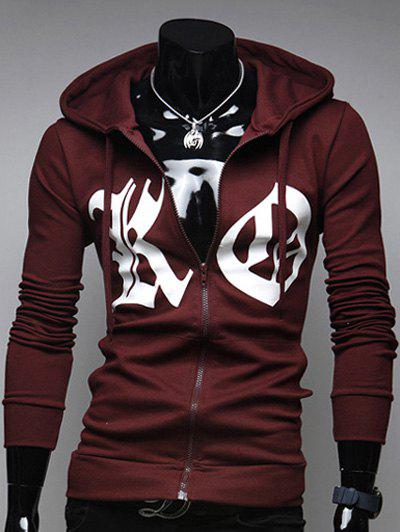 Zip Up Sweat à Capuche - Rouge vineux L