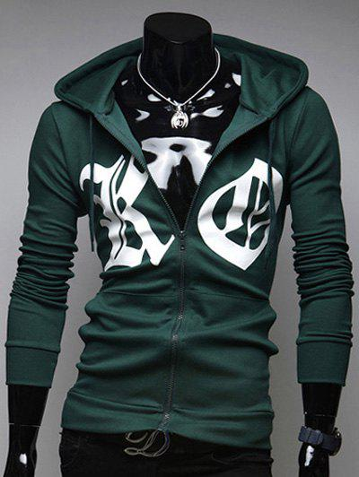 Zip Up Sweat à Capuche - armée verte 2XL