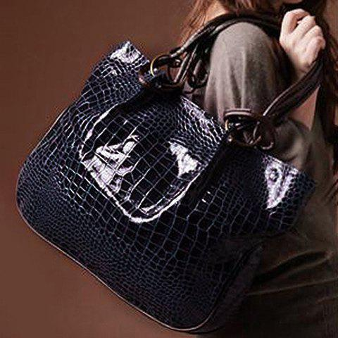 Trendy Stone Pattern and Metal Design Shoulder Bag For Women