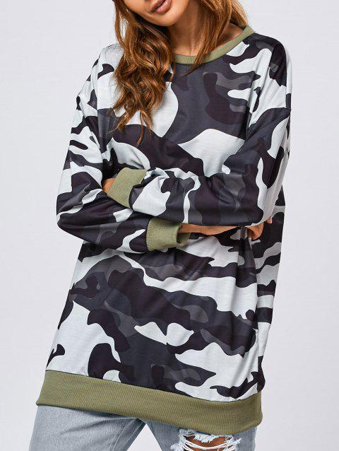 Pull-over long imprimé camouflage - Camouflage S