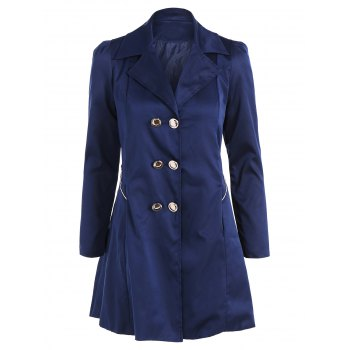Fit and Flare Double Breasted Coat