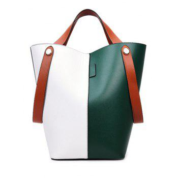 PU Leather Color Splice Tote