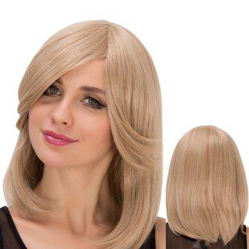 Straight Medium Light Dark Ash Blonde Side Bang Fascinating Synthetic Wig For Women