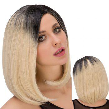 Medium Straght Side Parting Mixed Color Charming Synthetic Wig For Women