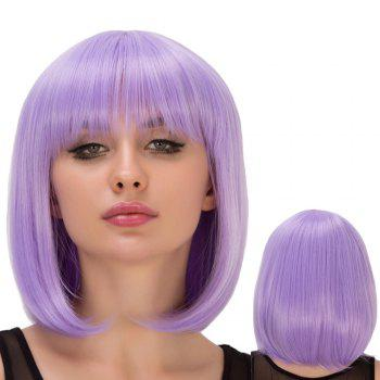 Bob Hairstyle Short Full Bang Straight Film Character Cosplay Wig