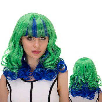 Medium Wavy Full Bang Film Character Cosplay Wig