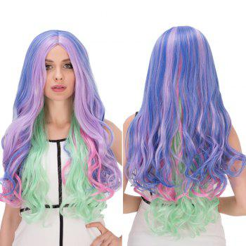 Colorful Long Wavy Centre Parting Film Character Cosplay Wig